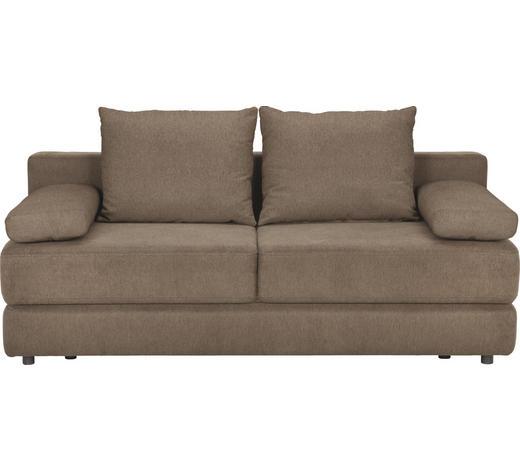 SCHLAFSOFA Webstoff Braun - Schwarz/Braun, KONVENTIONELL, Kunststoff/Textil (208/80/100cm) - Carryhome