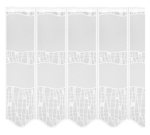 KURZGARDINE 43 cm  - Weiß, LIFESTYLE, Textil (43cm) - Esposa