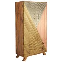 HIGHBOARD - Silberfarben/Goldfarben, Trend, Holz/Metall (80/150/40cm)