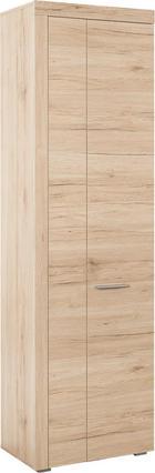 GARDEROBNA OMARA hrast - hrast/srebrna, Design, umetna masa/leseni material (60/198/35cm) - Carryhome