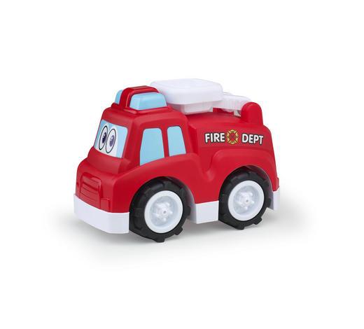 HASIČSKÉ AUTO - červená, Basics, umělá hmota (25,5/14,5/17,7cm) - My Baby Lou