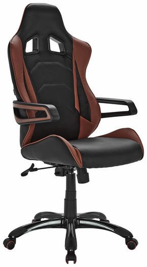 GAMINGSTOL - brun/svart, Design, metall/textil (64/130/67cm) - Xora