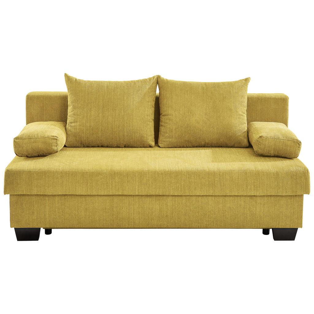 Xora Schlafsofa flachgewebe gelb