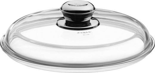 DECKEL - Klar/Edelstahlfarben, Design, Glas/Metall (24cm) - WMF