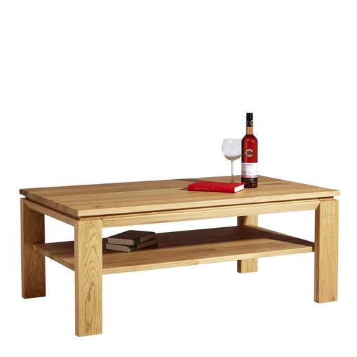 COUCHTISCH Wildeiche massiv rechteckig - Design, Holz (120/48/70cm) - Escando Natürlich Wo