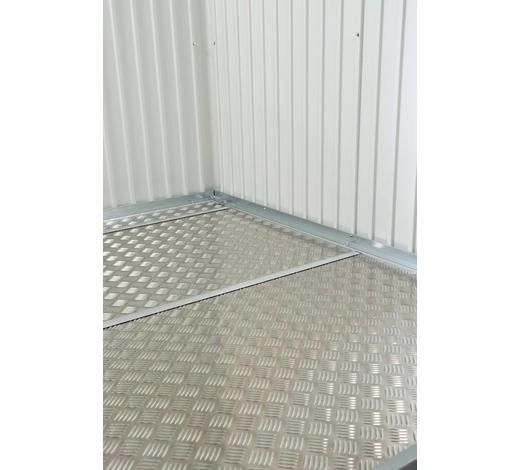 BODENPLATTE - Alufarben, Design, Metall (243,5/0,2/163,5cm) - Biohort