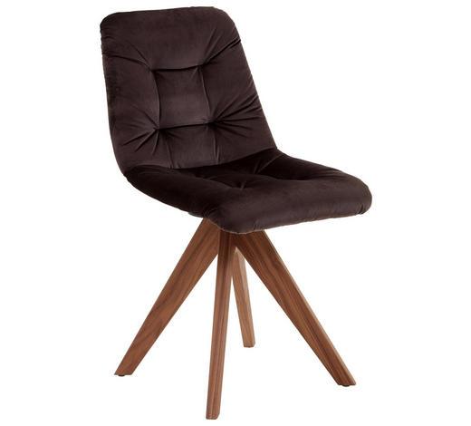 STUHL in Holz, Textil Braun, Eichefarben - Eichefarben/Braun, Natur, Holz/Textil (45/86/60cm) - Valnatura