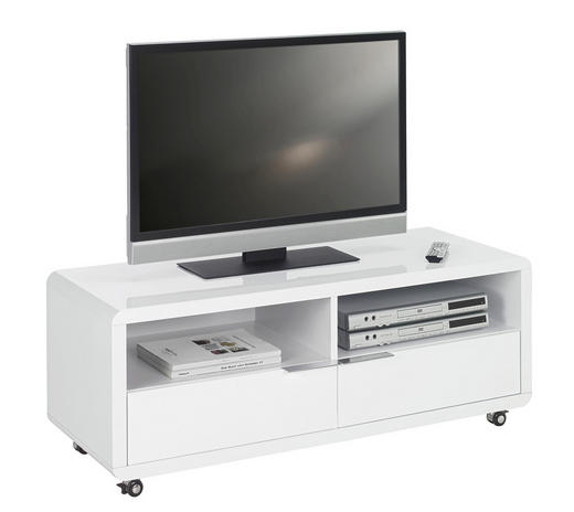TV-ELEMENT Weiß - Weiß, Design, Kunststoff (120/46/45cm) - XORA