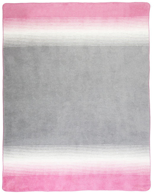 DECKE 150/200/ cm - Rosa/Weiß, KONVENTIONELL, Textil (150/200/cm) - Novel