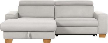 WOHNLANDSCHAFT in Beige Textil - Eichefarben/Beige, Design, Textil (178/262cm) - Hom`in