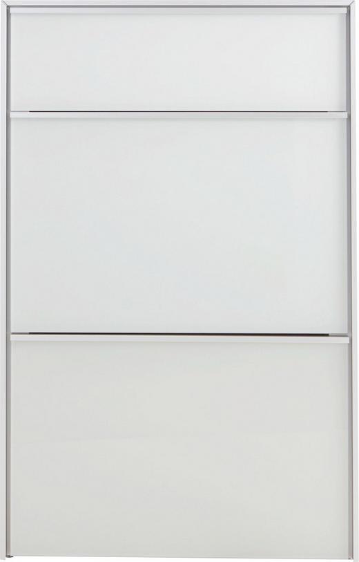 SCHUHKIPPER - Alufarben/Weiß, Design, Glas/Metall (63/98/33,5cm) - Dieter Knoll