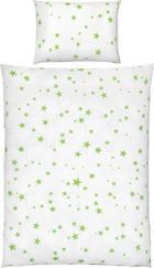 KOJENECKÉ POVLEČENÍ - bílá/zelená, Basics, textil (100/135cm) - My Baby Lou