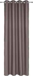 ÖSENSCHAL  blickdicht  130/245 cm - Taupe, KONVENTIONELL, Textil (130/245cm) - Esposa
