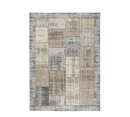 FLACHWEBETEPPICH  130/190 cm  Grau, Beige - Beige/Grau, Basics, Textil (130/190cm) - Novel