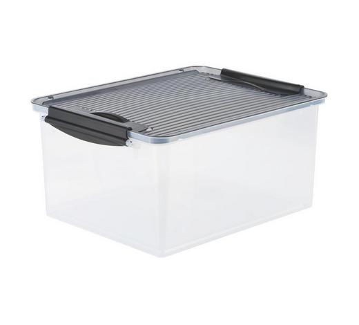 AUFBEWAHRUNGSBOX - Weiß/Grau, KONVENTIONELL, Kunststoff (38/29/17cm) - Plast 1