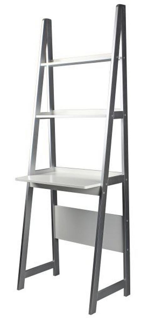 SCHREIBTISCHREGAL Grau, Weiß - Weiß/Grau, Design, Holzwerkstoff (64/180/39cm) - CARRYHOME