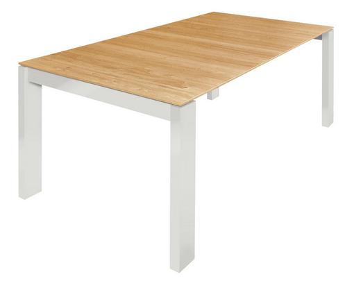 ESSTISCH Eiche furniert rechteckig Weiß, Eichefarben - Eichefarben/Weiß, Design, Holz (160/100/75cm) - Now by Hülsta