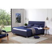 OBLAZINJENA POSTELJA   x  , tekstil temno modra - aluminij/temno modra, Konvencionalno, kovina/tekstil (180/200cm) - Esposa