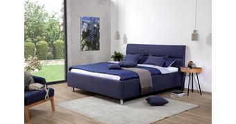 OBLAZINJENA POSTELJA 180 cm   x 200 cm  , tekstil temno modra  - aluminij/temno modra, Konvencionalno, kovina/tekstil (180/200cm) - Esposa