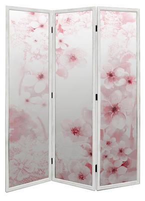 VIKVÄGG - vit/pink, Trend, trä (136/180cm) - Ambia Home