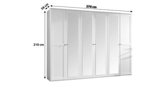 DREHTÜRENSCHRANK in Eichefarben  - Eichefarben/Braun, KONVENTIONELL, Glas/Holzwerkstoff (270/210/58cm) - Cantus