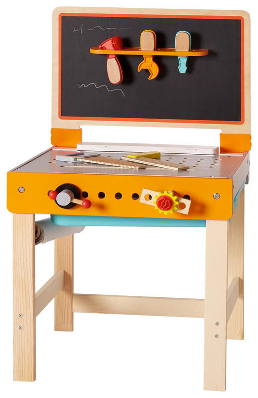 KINDERWERKBANK - Multicolor, Basics, Holz/Kunststoff (47/38/81cm) - Ben'n'jen
