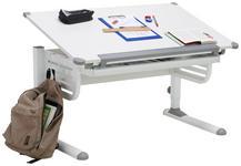 SCHREIBTISCH in Metall, Holzwerkstoff 110/63-93/60 cm  - Weiß, KONVENTIONELL, Holzwerkstoff/Metall (110/63-93/60cm) - Xora