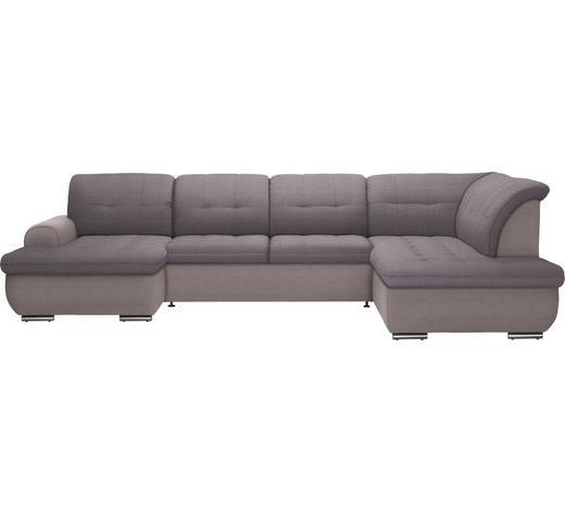 WOHNLANDSCHAFT in Textil Grau - Silberfarben/Grau, Design, Textil (154/342/208cm) - Cantus
