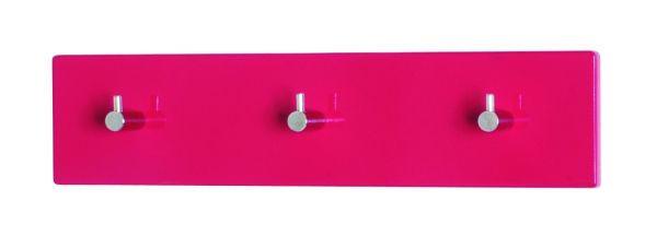 GARDEROBA ZIDNA - boje kroma/crvena, Design, drvni materijal/metal (34/5/8cm) - BOXXX