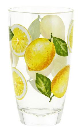 GLAS - klar/gul, Trend, glas (0,37l)