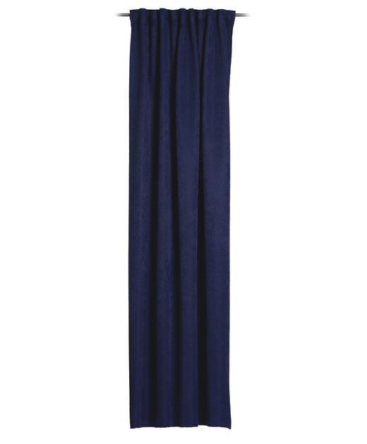 FERTIGVORHANG  halbtransparent   135/245 cm - Blau, Basics, Textil (135/245cm) - Esposa