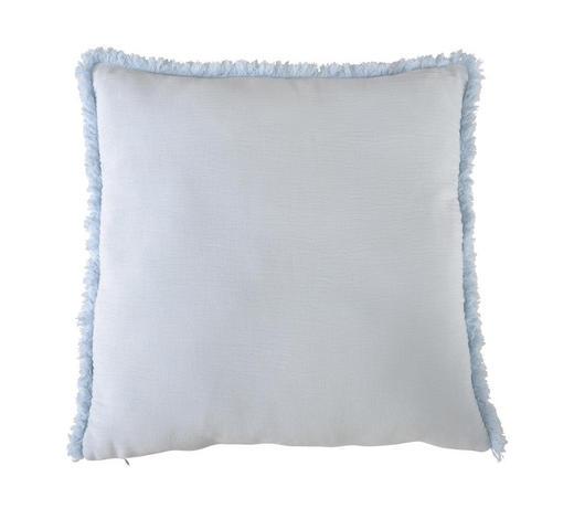 POLŠTÁŘ OZDOBNÝ, 48/48 cm, modrá, bílá - bílá/modrá, Konvenční, textil (48/48cm) - Ambiente