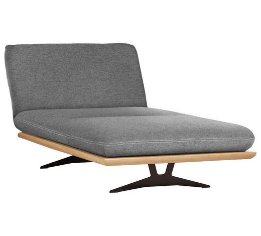 OTTOMANE Grau  - Beige/Schwarz, Design, Holz/Textil (114/92/165-218cm) - Livetastic