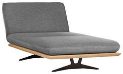 OTTOMANE Grau - Schwarz/Grau, Design, Holz/Textil (114/92/165-218cm) - Dieter Knoll