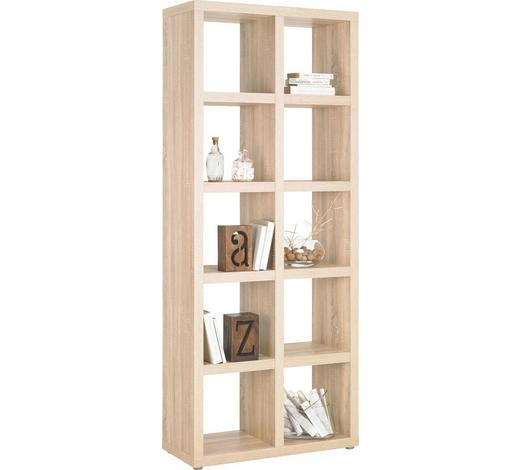 DĚLICÍ STĚNA, barvy dubu - barvy dubu/barvy hliníku, Design, kompozitní dřevo/umělá hmota (83/203/35cm)