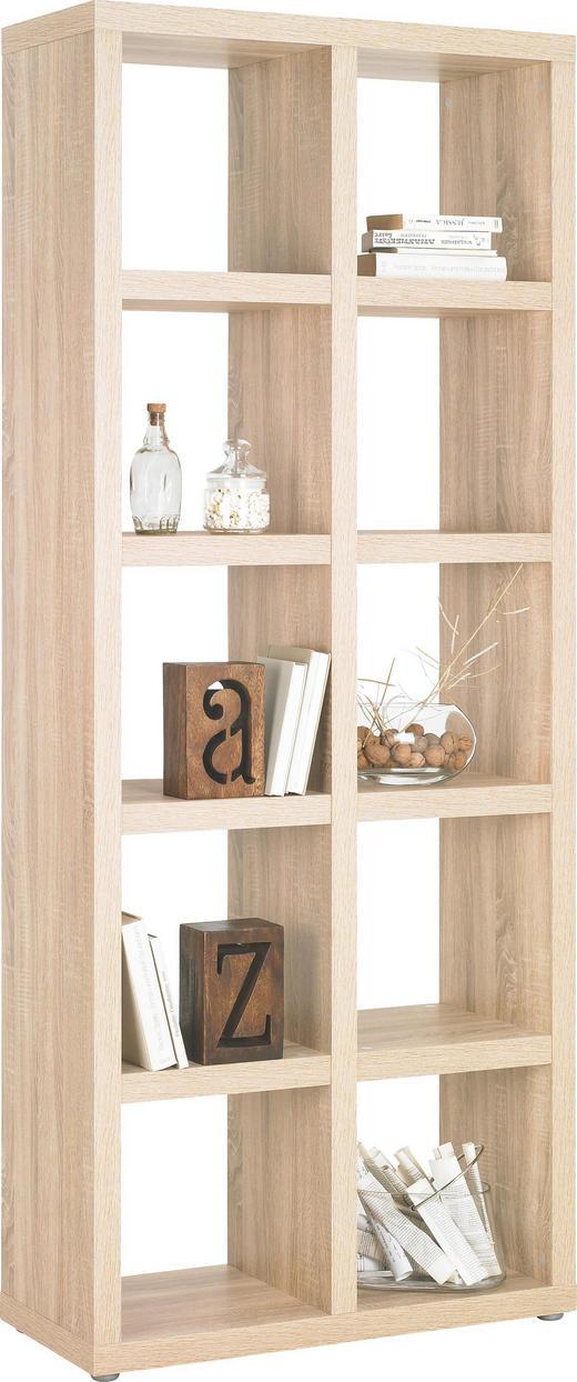 RAUMTEILER in Eichefarben - Eichefarben/Alufarben, Design, Holzwerkstoff/Kunststoff (83/203/35cm)