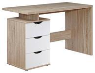 LAPTOPTISCH in Holzwerkstoff 120/76/53 cm  - Weiß/Sonoma Eiche, MODERN, Holzwerkstoff (120/76/53cm) - Carryhome