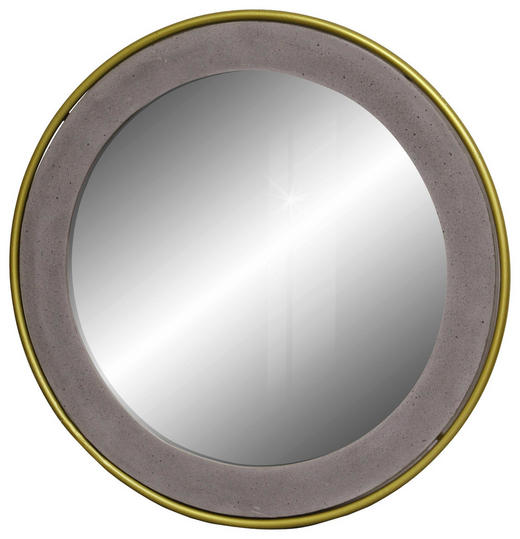 SPIEGEL Goldfarben, Grau - Goldfarben/Grau, MODERN, Glas/Stein (62/3cm) - Carryhome