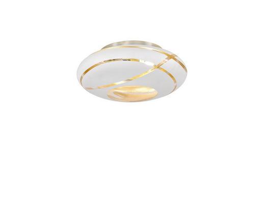 DECKENLEUCHTE - Goldfarben/Weiß, MODERN, Glas (40/16cm)