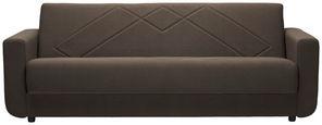 SCHLAFSOFA in Textil Dunkelbraun  - Dunkelbraun/Schwarz, KONVENTIONELL, Kunststoff/Textil (225/83/88cm) - Cantus