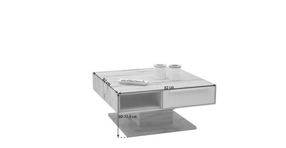 COUCHTISCH in Glas, Holz 82/82/40-72,5 cm - Schlammfarben/Buchefarben, Design, Glas/Holz (82/82/40-72,5cm) - Valnatura