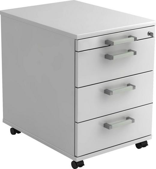 ROLLCONTAINER Weiß - Chromfarben/Weiß, KONVENTIONELL, Kunststoff/Metall (42,8/59/58cm)