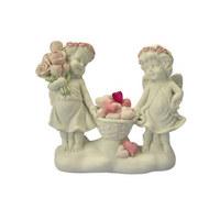 DEKOENGEL - Rosa/Weiß, Basics, Keramik (14,5/12/5cm) - X-MAS