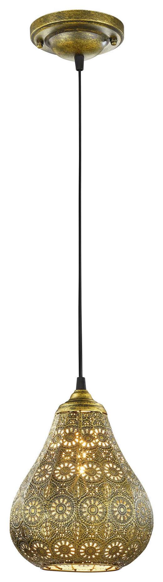 HÄNGELEUCHTE - Messingfarben, LIFESTYLE, Metall (19/150cm)