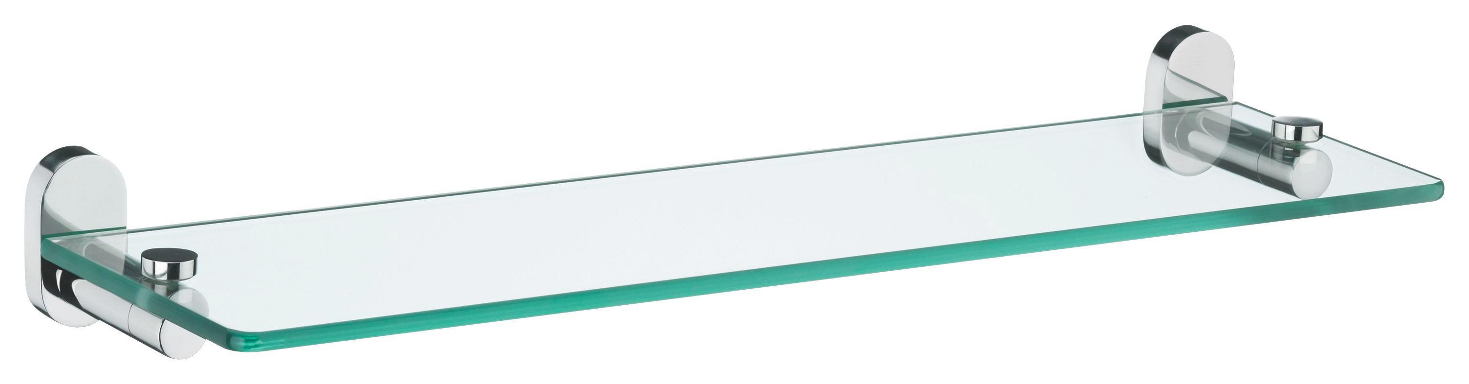 ABLAGE Glas, Metall - Basics, Glas/Metall (50/14/6cm)