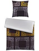 POSTELJINA - žuta/antracit, Design, tekstil (135/200cm) - Novel