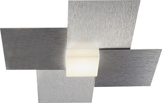 LED-DECKENLEUCHTE - Alufarben, Design, Metall (27,5/27,5/5,5cm)