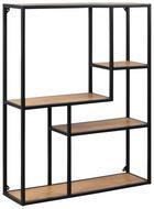 POLICA ZIDNA - boje hrasta/crna, Design, drvni materijal/metal (75/91/20cm) - Carryhome