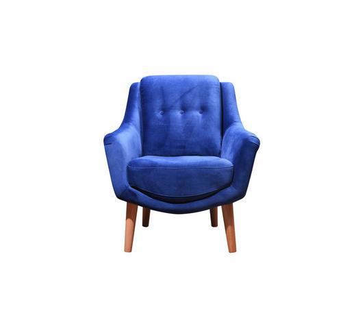 FOTELJA - plava, Moderno, drvo/tekstil (73/85/76cm) - Ti`me