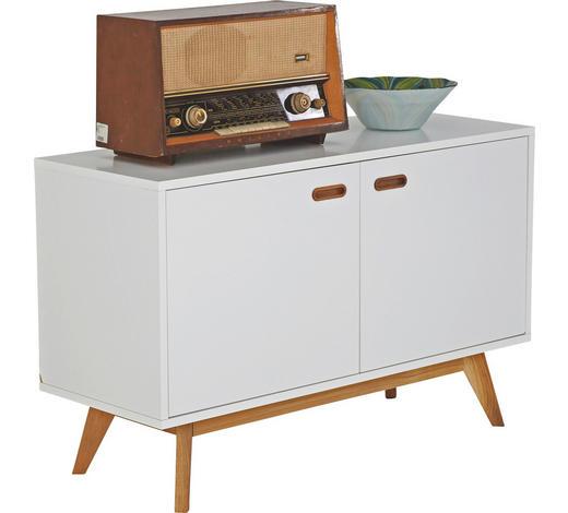 SIDEBOARD Eiche massiv geölt, lackiert Weiß, Eichefarben  - Eichefarben/Weiß, Design, Holz/Holzwerkstoff (114/72/43cm) - Carryhome